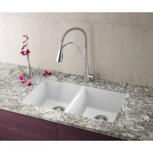 TG802   Double Equal Bowl Tru Granite Kitchen Sink