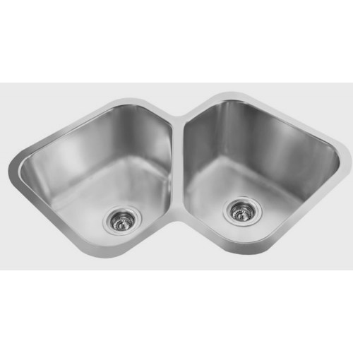 Butterfly Sink : AG1616 - Gemini Corner Butterfly Double Sink