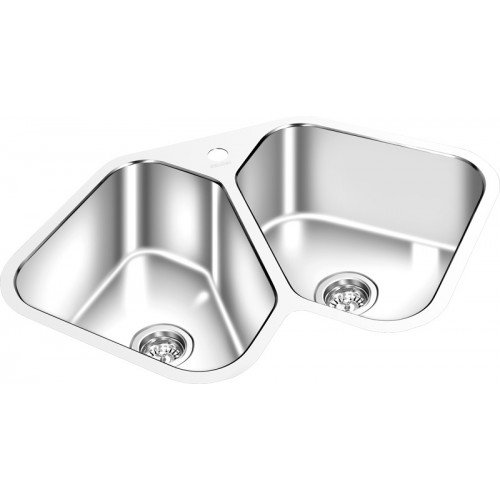Butterfly Sink : AG1616H - Gemini Corner Butterfly Double Sink